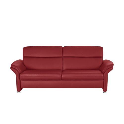 meinSofa Ledersofa rot - Leder Manon ¦ rot ¦ Maße (cm): B: 228 H: 94