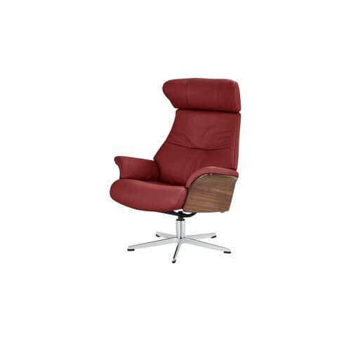 Höffner Relaxsessel rot - Leder Air ¦ rot ¦ Maße (cm): B: 80 H: 109,5 T: 78