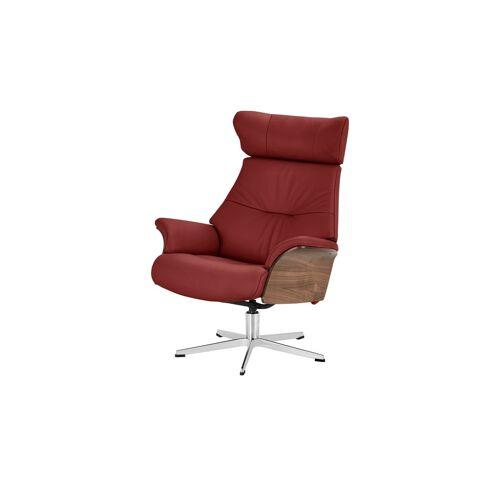 Höffner Relaxsessel rot - Leder Air ¦ rot ¦ Maße (cm): B: 80 H: 104,5 T: 78