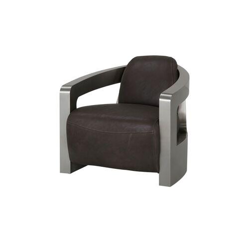 Höffner Sessel im Industriallook  Tyson ¦ braun ¦ Maße (cm): B: 76 H: 70 T: 8