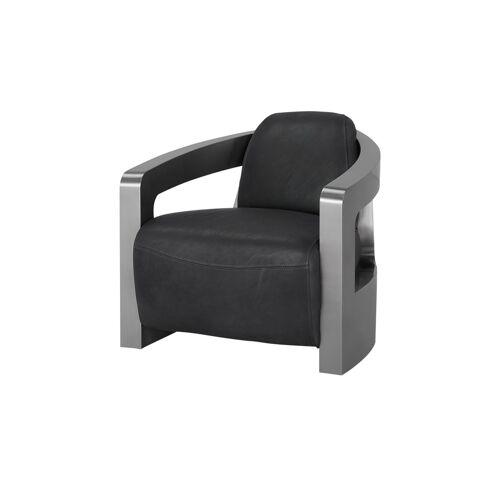 Höffner Sessel im Industriallook  Tyson ¦ grau ¦ Maße (cm): B: 76 H: 70 T: 85
