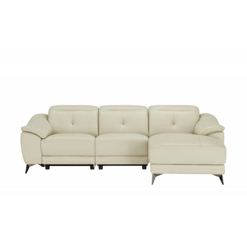 uno Ledersofa mit Relaxfunktion  Eva ¦ creme