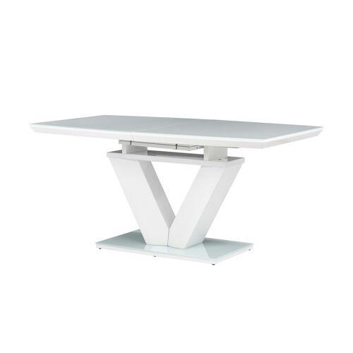 uno Säulentisch ausziehbar  Balian ¦ weiß ¦ Maße (cm): B: 90 H: 75