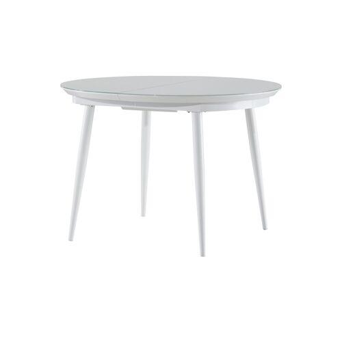uno Glastisch Oval  Tassilo ¦ weiß ¦ Maße (cm): B: 100 H: 76