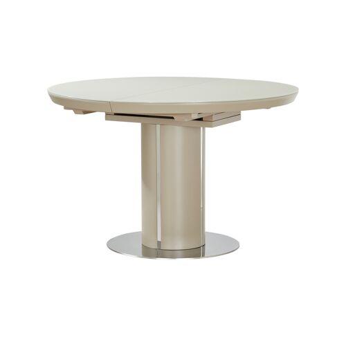 uno Säulentisch ausziehbar  Dante ¦ creme ¦ Maße (cm): H: 76,5 Ø: 120