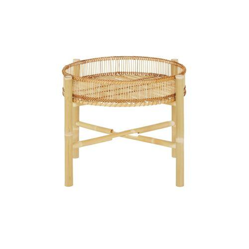 Höffner Beistelltisch  Bambus ¦ braun Ø: 50