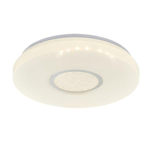 KHG LED-Deckenleuchte, 1-flammig mit Kristalldeko ¦ weiß Ø: 42.5