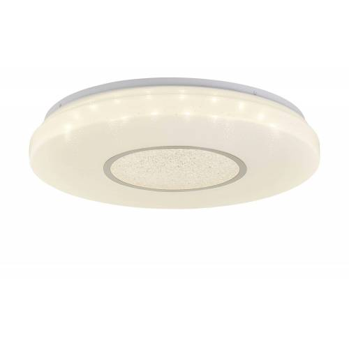 KHG LED-Deckenleuchte, 1-flammig mit Kristalldeko ¦ weiß Ø: 50