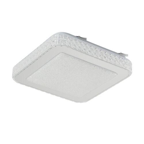 Höffner LED-Deckenleuchte mit Kristallglas ´eckig´ ¦ silber