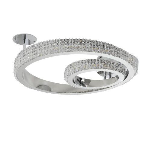 KHG LED-Kristall-Deckenleuchte, `Kreise´ ¦ silber Ø: 42