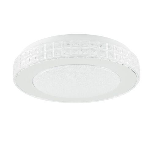 Höffner LED-Deckenleuchte in  Kristallglas-optik ¦ silber Ø: 28