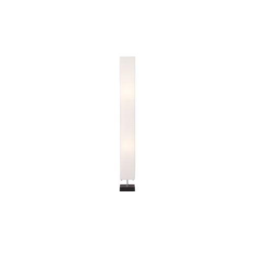 HOME STORY Stehlampe mit weißem Papierschirm, Holzfuß ¦ weiß