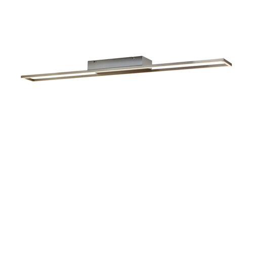 Paul Neuhaus LED- Deckenleuchte,1-flammig, nickel matt, rechteckig ¦