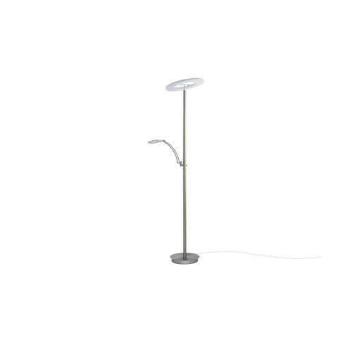 Höffner LED-Deckenfluter, 2-flammig, Nickel matt ¦ silber ¦ Maße (cm): H: 185