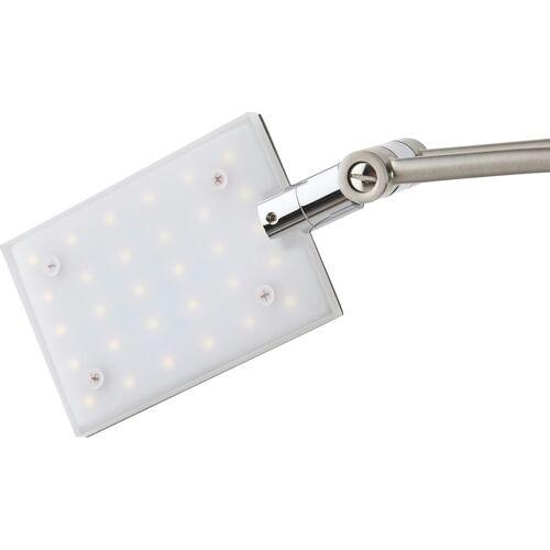 Höffner LED-Deckenfluter, 2-flammig, nickel matt ¦ silber