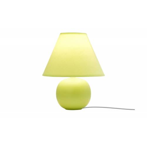 KHG Keramik-Tischleuchte, grün ¦ grün ¦ Maße (cm): H: 28 Ø: 23