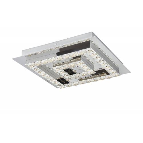 KHG LED-Kristalldeckenleuchte, mit Farbwechsler ¦ silber ¦ Maße (cm):