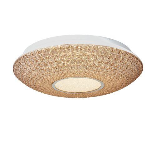 KHG LED-Deckenleuchte, Acryl in Kristalloptik ¦ creme ¦ Maße (cm): H: