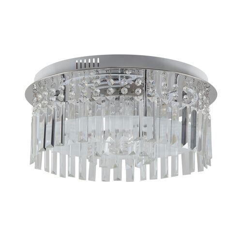 KHG LED-Deckenleuchte mit Discokugel ¦ silber ¦ Maße (cm): H: 25 Ø: 4