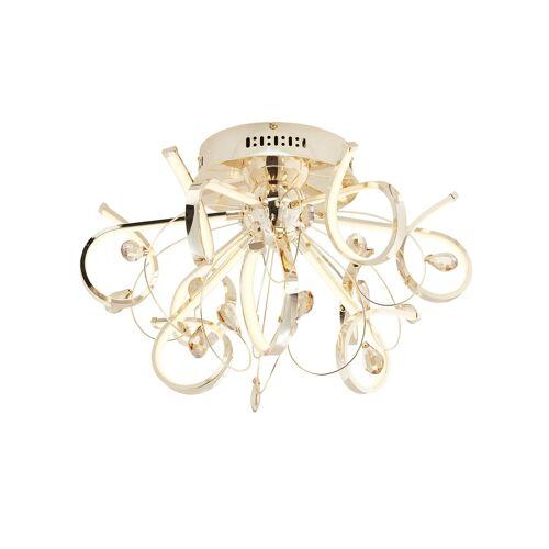 KHG LED-Deckenleuchte, goldfarben mit Dekosteinen ¦ gold ¦ Maße (cm):