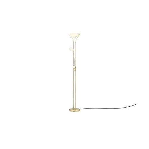 KHG LED-Deckenfluter, 2-flammig ¦ gold ¦ Maße (cm): H: 181 Ø: 25.5