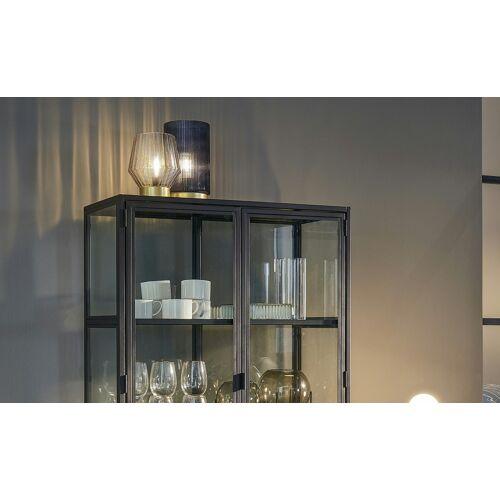 Höffner Glasdekoration mit Beleuchtung ¦ grau ¦ Glas , Metall, Kunststoff ¦ M