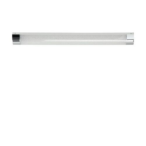 Höffner LED-Badleuchte, 1-flammig, Kristalloptik ´mittel´ ¦ silber