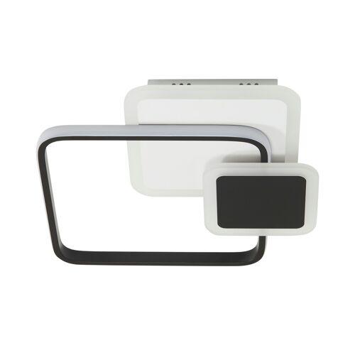 KHG LED-Deckenleuchte, schwarz/weiß, eckig ¦ weiß ¦ Maße (cm): B: 38