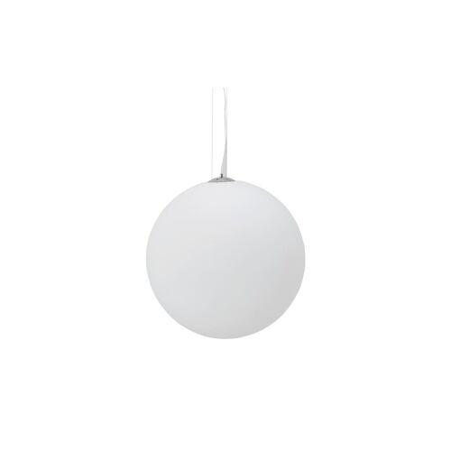 KHG LED-Pendelleuchte, Kugel weiß ¦ weiß ¦ Maße (cm): H: 150 Ø: 60