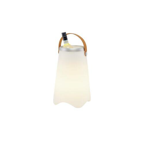 Trio Akku-LED-Tischleuchte weiß, Flaschenhalter Sektkühler beleuchtet