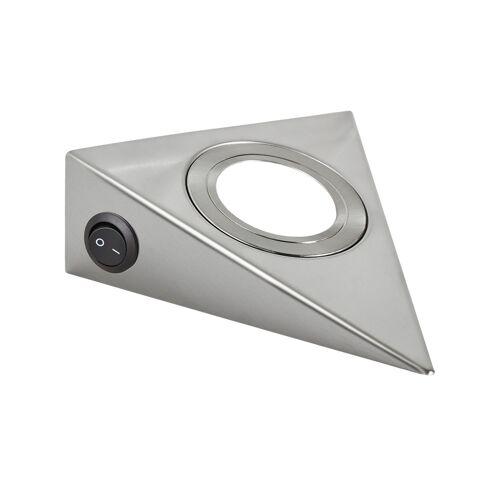 Höffner LED-Unterbauleuchten, 3er-Set  LED-Dreieckleuchte ¦ silber ¦ Maße (cm