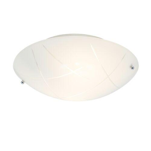 Höffner Deckenlampe mit Opalglasschirm ¦ weißØ: 30