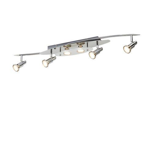 KHG LED-Deckenstrahler silber 6 Spots ¦ silber ¦ Maße (cm): B: 15 H: