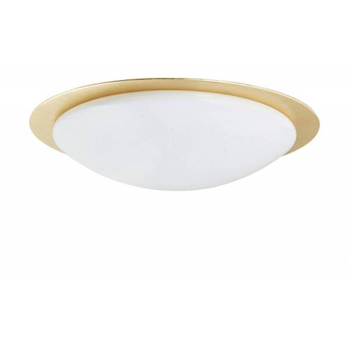 KHG LED-Deckenleuchte, 1-flammig, Goldrand ¦ gold ¦ Maße (cm): H: 13,