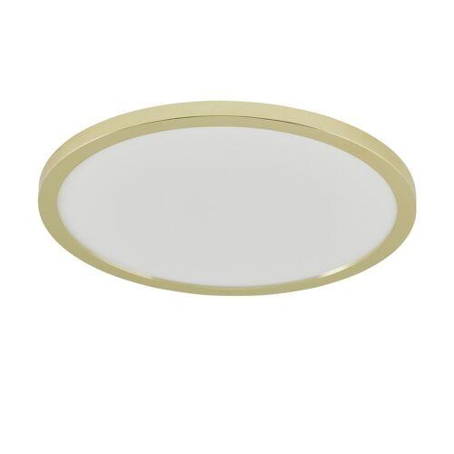 KHG LED-Deckenleuchte, messing-blank ¦ gold ¦ Maße (cm): H: 5,5 Ø: 40