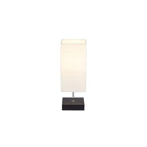 HOME STORY Tischlampe mit rechteckigem Papierschirm ¦ weiß ¦ Maße (cm