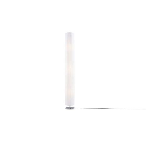 HOME STORY Stehlampe mit zylinderförmigem weißem Schirm ¦ weiß ¦ Maße