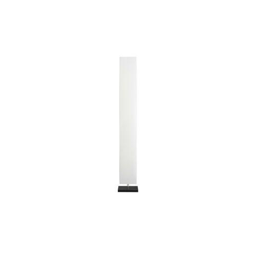 HOME STORY Stehlampe mit weißem Papierschirm rechteckig ¦ weiß