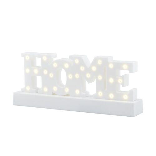 KHG LED-Schriftzug HOME, Weiß ¦ weiß ¦ Maße (cm): B: 5,2 H: 12