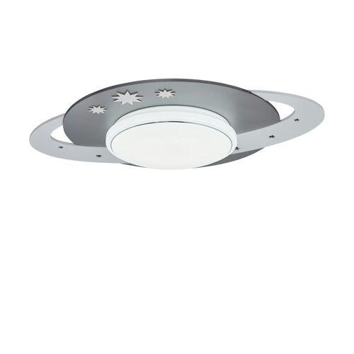 Höffner LED-Deckenleuchte ´Saturn´ ¦ grau ¦ Maße (cm): B: 50 T: 20