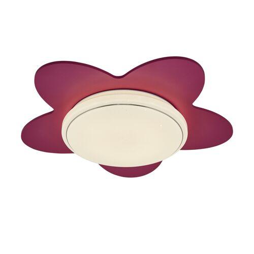 Höffner LED-Deckenleuchte `Blume´ ¦ rosa/pink ¦ Maße (cm): B: 50 T: 20