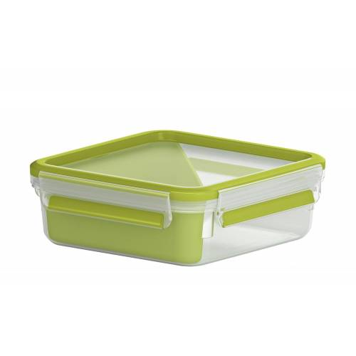 emsa Sandwichbox 0,865 l  Clip & Go ¦ grün ¦ Kunststoff ¦ Maße (cm):