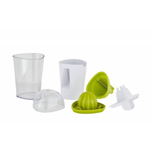 KHG 2in1 Saftpresse/Gemüseschneider ¦ grün ¦ Kunststoff ¦ Maße (cm):