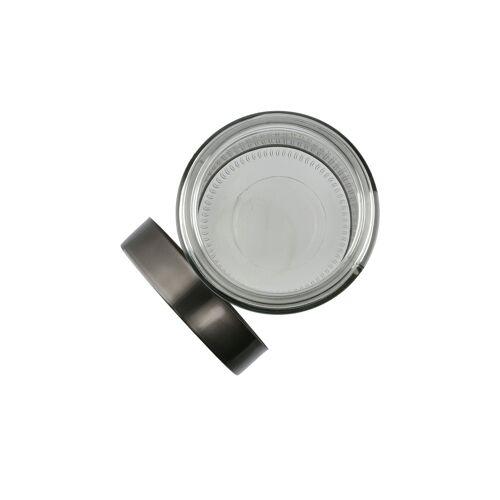Höffner Aufbewahrungsdose ¦ grau ¦ Glas , Edelstahl ¦ Maße (cm): H: 22,5 Ø: 1