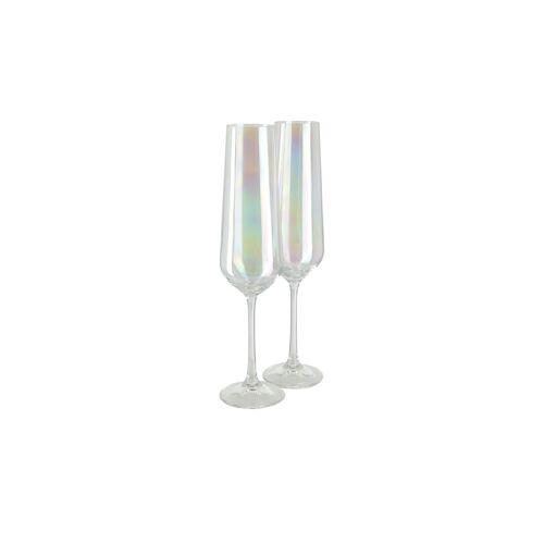 Höffner Sektkelch, 2er-Set  Las Vegas ¦ mehrfarbig ¦ Kristallglas