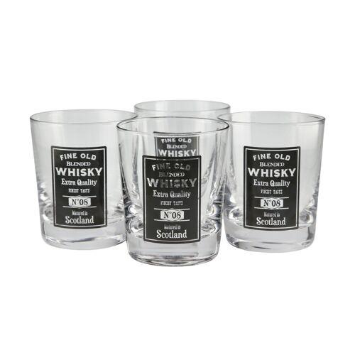 for friends Whiskeygläser, 4er-Set ¦ transparent/klar ¦ Glas Ø: 8