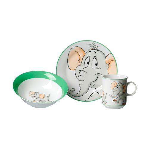 Ritzenhoff & Breker Kindergeschirr, 3-teilig  Elefant ¦ grün ¦ Porzel
