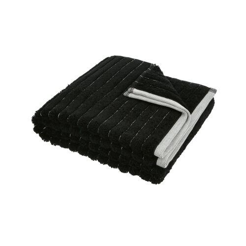 VOSSEN Handtuch  Hardy ¦ schwarz ¦ 90% Bio-Baumwolle, 10% Polyester