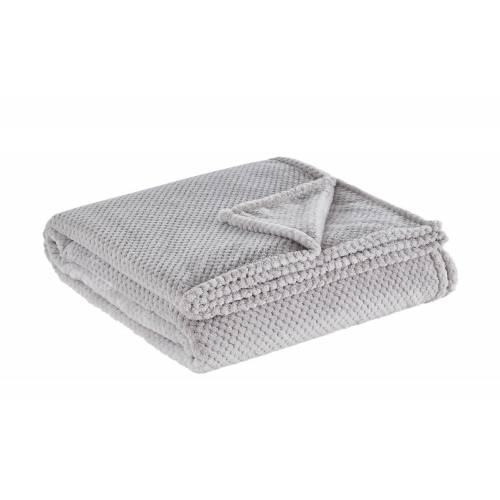 LAVIDA Coralfleece Decke  Mia XL ¦ grau ¦ 100% Polyester, Polyester ¦