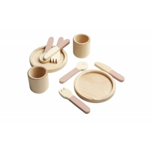 FLEXA Geschirr-Set  The Kitchen ¦ rosa/pink ¦ Birke massiv